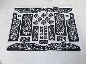 Henna Stencils Mehndi Templates Easy To Use Mixed Designs Indian Style Body Art Ebay