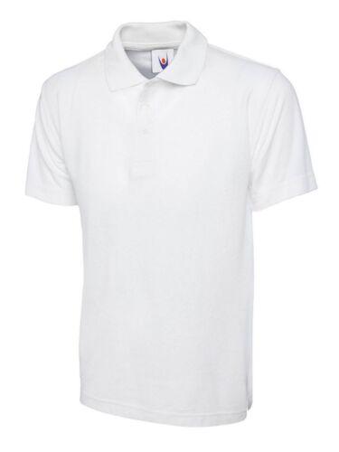 Unisex Mens Classic Poloshirt Collared Polo Tee Shirt Workwear T-shirt Plain TOP