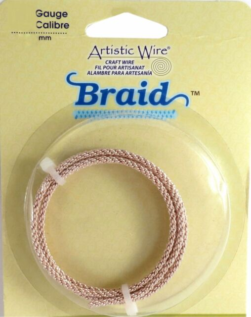 Artistic Wire Braid Rose Gold Color 12 Gauge 5 Feet 43175 Braided