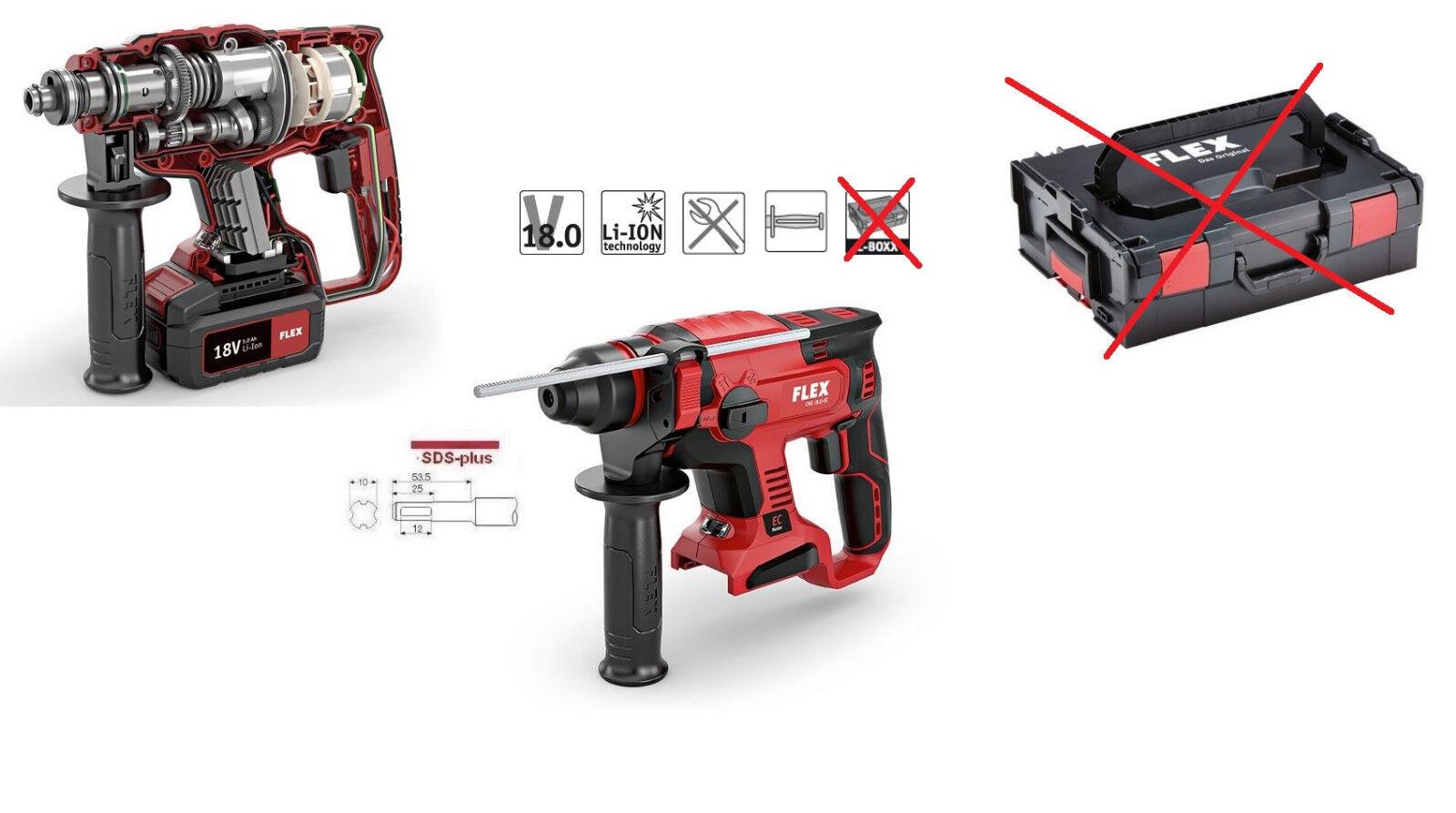 Flex Akku Bohrhammer 18V CHE 18.0-EC SDS-plus Sologerät ohne L-BOXX