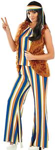 Ladies-60s-Rock-Star-Hippie-Fancy-Dress-Costume-Outfit-UK-8-22-Plus-Size