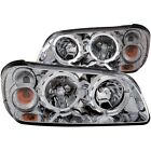Headlight Assembly-with Halo Clear Lens Chrome Left,Right Anzo 121202