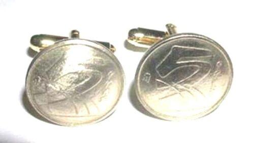 Golden Spanish 5 peseta cuff links-abstract!