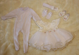 Set-of-Reborn-Doll-Baby-039-s-Girl-Clothes-for-22-039-039-Newborn-Baby-NOT-Included-Doll