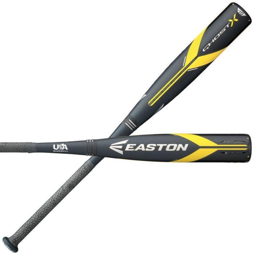 Easton Senior Baseball Bat Ghost X USA -10 2 5 8 Barrel YBB18GX10 (31 -21oz)