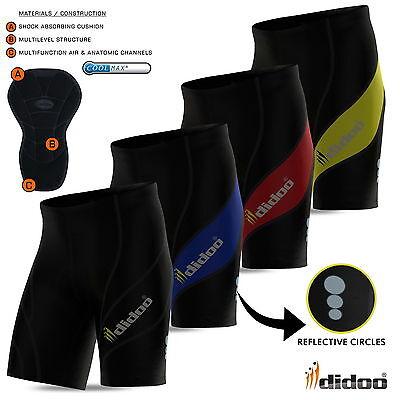 Mens Cycling Shorts gel padded bike pants body Armour short antibac all sizes