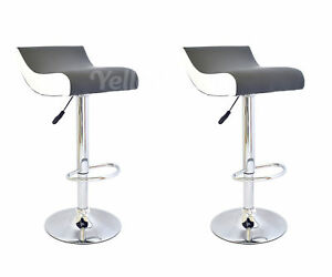 Coppia sgabelli ecopelle sgabello grigio bianco design bar cucina