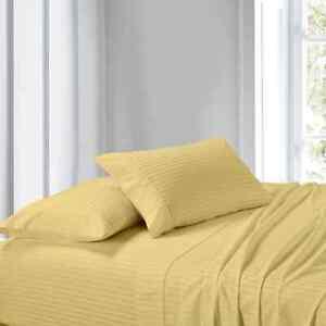 Comfort 4 PCs Sheet Set Ultra Deep Pocket 1000 TC Stripe Colors US Olympic Queen