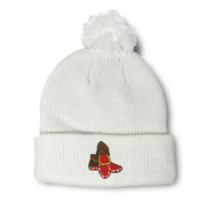 Pom Pom Beanies for Women Western Southwest Native American Indian Moccasins
