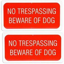 2pcs No Trespassing Beware Of Dog Sign 6 X 12 For Indoor Outdoor Garden Use