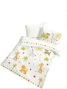 2 tlg Kinder Baby Bettwäsche 100x135 cm Afrika weiß ...