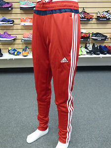red and white adidas pants