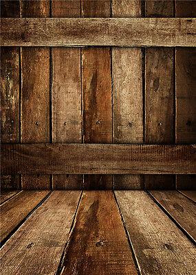 Wooden Floor Photography Backdrops Studio Props Photo Background Vinyl Kid 5x7ft