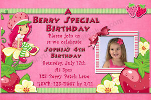 New Strawberry Shortcake Birthday Invitations eBay