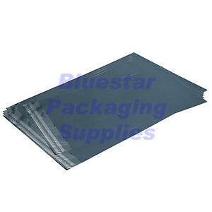 """100 Grey 9 x 12"""" Quality Strong Plastic Poly Postal Mailing Bags 230 x 300mm"""