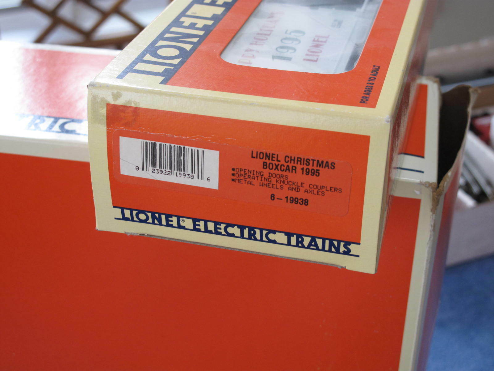 1995 Lionel 6-19938 Christmas scatola scatola scatola auto Happy Holidays nuovo L0836 41ed4d