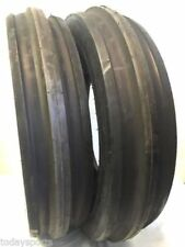 Two New 1000 16 Tri Rib Front Tractor Tires 10 Ply Tubeless Super Heavy Duty