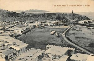 Aden-Yemen-Middle-East-Postcard-The-Crescent-Steamer-Point-DY6