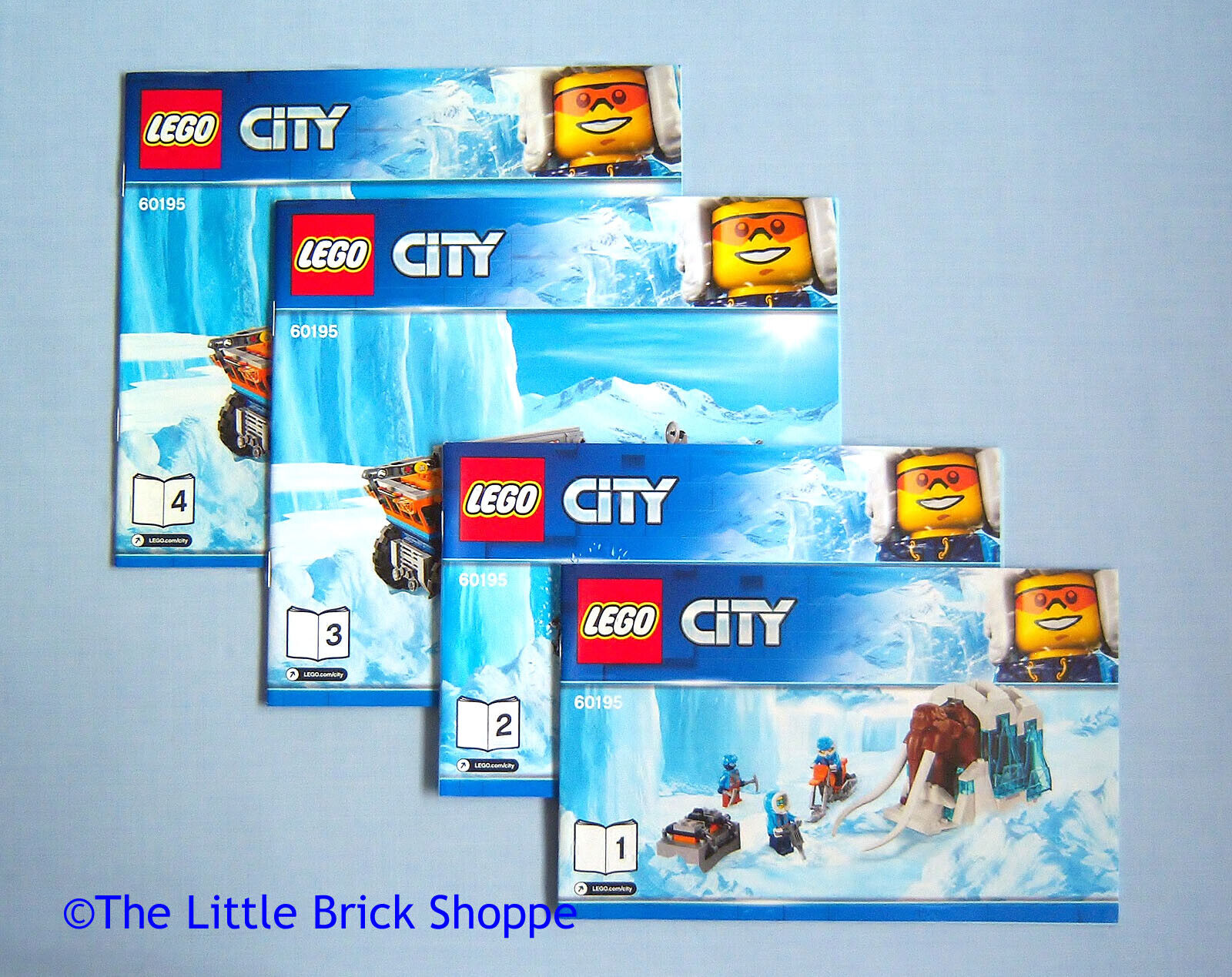 2 INSTRUCTIONS 1 3 /& 4 ONLY Lego City 60195 Arctic Mobile Exploration Base