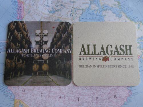 Beer Collectible Coaster ~ ALLAGASH Brewing Co ~*~ Portland MAINE ~ Barrel Aged