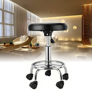 Silla-Cuero-Sintetico-Taburete-Hidraulico-Giratorio-para-Spa-Hospital-Salon-Bar