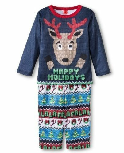 Target Ugly Christmas Sweater Happy Holidays Reindeer Blue L s Pajamas Size  4 for sale online  262a4cfec