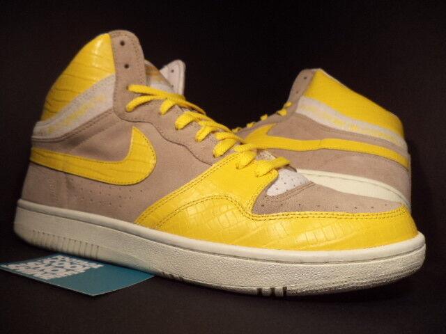 2005 Jaune Nike Dunk COURT FORCE HI STUSSY BONE MAIZE Jaune 2005 SAIL blanc 312270-271 13 4ba3ee