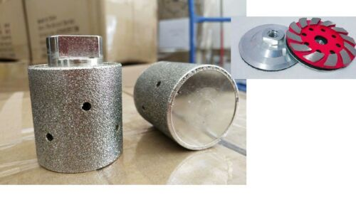"2 Inch Diamond Zero Tolerance grinding Drum 4/"" grinding cup stone concrete"