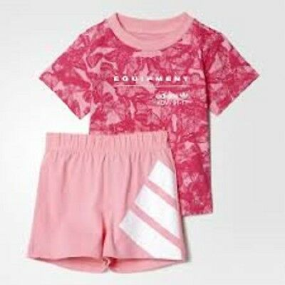 adidas originals baby girl infants T shirt shorts set Perfect gift BNWT S14383