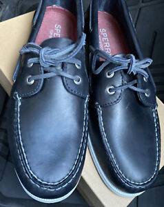 men's sperry boat shoes navy blue