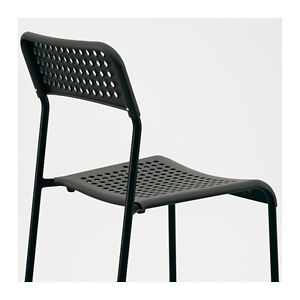 Image Is Loading Stackable Ikea Adde Chair Black