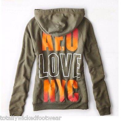American Eagle AE Gray Metallic Pink Zip Up Graphic Hoodie Sweatshirt XL