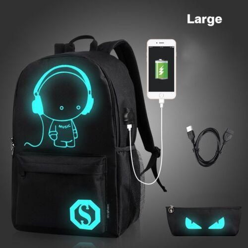 Anti Theft Smart School College Travel Backpack Safe Bag USB Charging Laptop