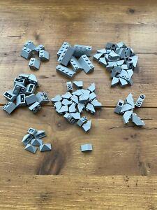 LEGO-45-deg-Slope-amp-Inverted-Slope-Lot-Light-Bluish-Gray-ONLY