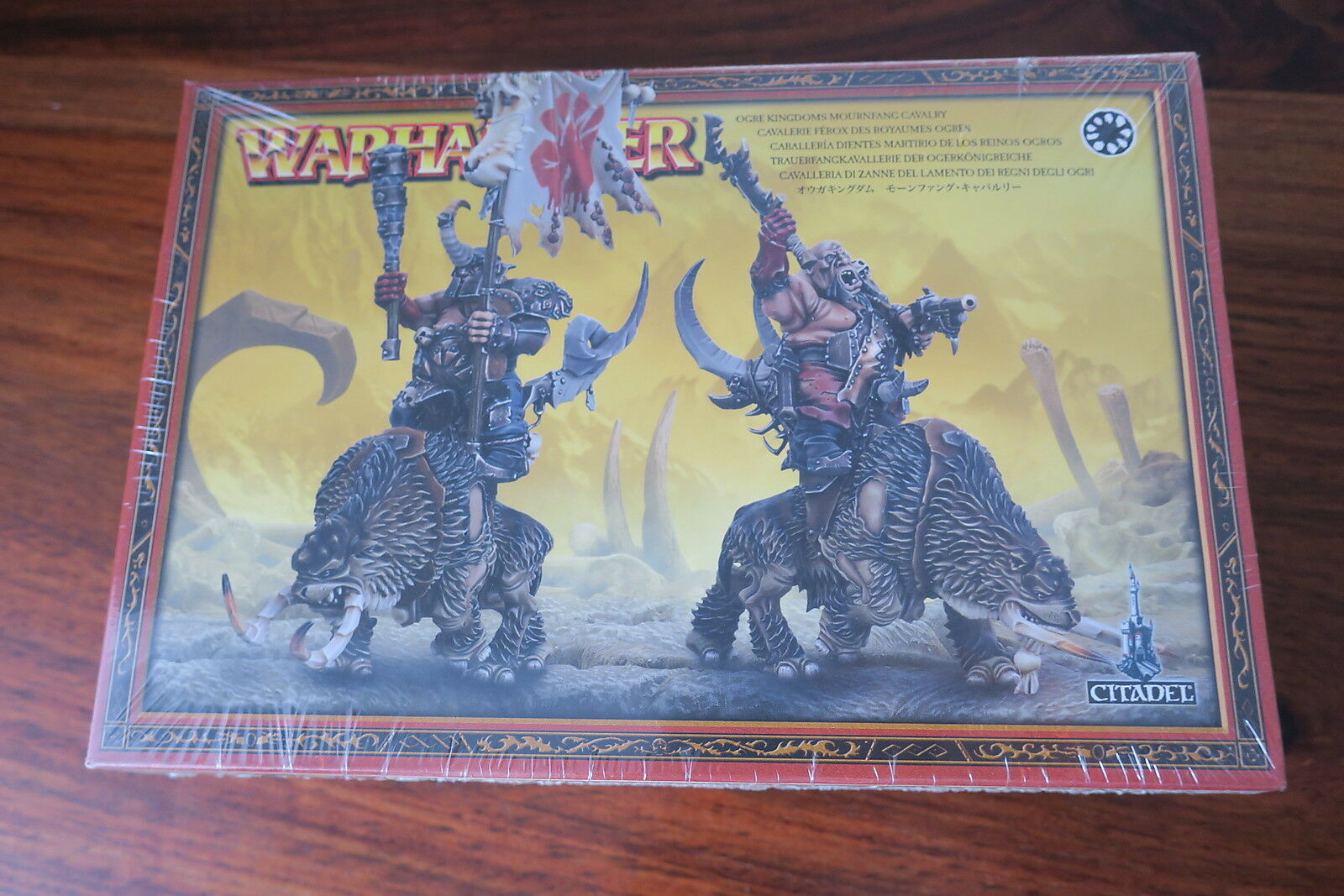 WARHAMMER  CAVALERIE FEROX DES ROYAUMES OGRES   OGRE KINGDOMS MOURNFANG CAVALRY