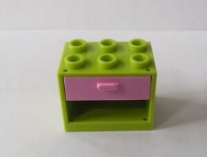 Image Is Loading New Lego Lime Green Container Pink Drawer 2x3x2