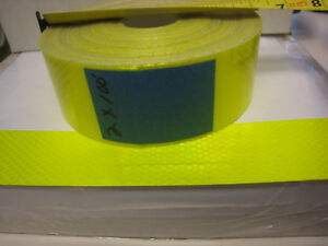 NEON-YELLOW-Reflective-Conspicuity-Tape-2-034-x-100-feet-plain-no-lines