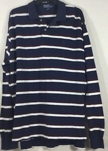 Polo-Ralph-Lauren-Men-039-s-L-S-Striped-Shirt-Multicolor-Sz-XL-w-Brown-Pony-Logo