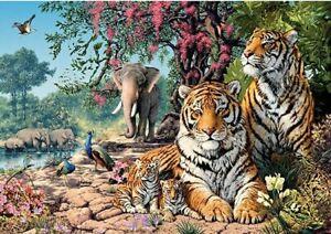 """Puzzle 1500 pieces 85*58cm """"Tigers"""" Step Puzzle 83054"""