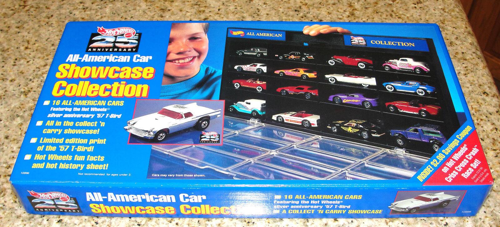 Hot Wheels 25th aniversario All American 16 coche escaparate Colección 1993 Sellado