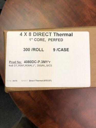 "2,700//box 4/"" x 8/"" Thermal Direct Label 1/"" core 300//roll Zebra style printers"