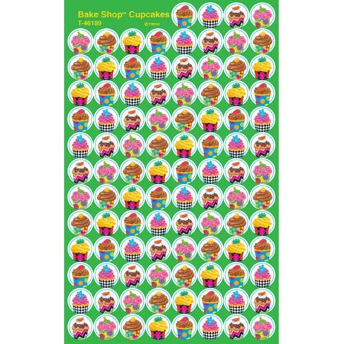 T-46189 Cupcakes The Bake Shop™ superSpots® Stickers Trend Enterprises Inc