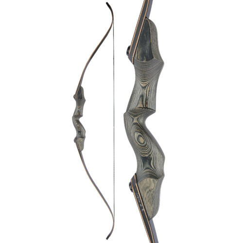 """60/"""" Takedown Recurve Bow 25-60lbs Wooden Riser Archery Hunting Shooting Target"""