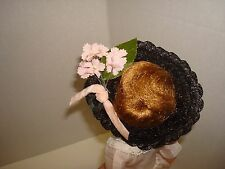 """Vtg 1950-60's Lil Miss Revlon Straw Doll Hat Fit Jill Vogue/Mdm Alex/Fashion/10"""""""