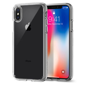 best sneakers 1eadd 1a996 Details about Apple iPhone X [Ultra Hybrid] Clear Hybrid Bumper Shockproof  Case Cover #MC
