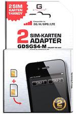 GALAXY S4 MINI SIV Dual SIM Adapter Karte Card SAMSUNG GT-I9195 GDSGS4-M