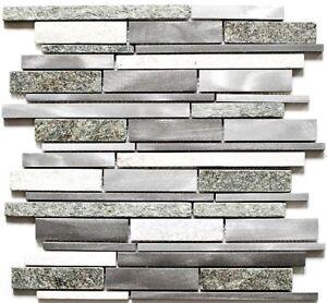Aluminiummosaik Quarz Grau Mix Wand Kuchenruckwand Bad Art Wb49 Xsa535 1 Matte Ebay