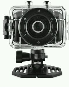 Ematic-ActionCam-HD-Waterproof-Cam-Video-Camera-with-Helmet-Mount-amp-Post-Mount