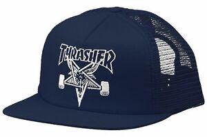 af90c0b9ae1 Image is loading Thrasher-Magazine-EMBROIDERED-SKATE-GOAT-Skateboard-Trucker -Hat-