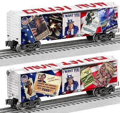 """Lionel Uncle Sam """"Enlist Now"""" Boxcar # 6-83788"""